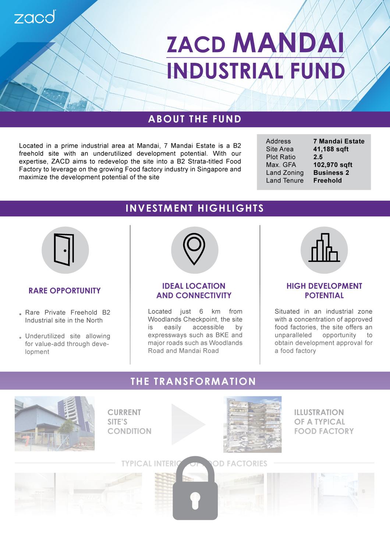 ZACD Mandai Industrial Fund